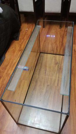 Akwarium 200 litrów 100x40x50 z podstawą i pokrywą.