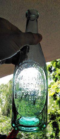 Stara butelka Patschkau Paczków August Heinrich Bierniederlage