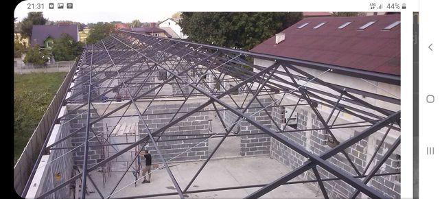 Hala stalowa, konstrukcja dachu, spawanie, hale