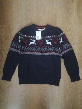 H&M - NOWY sweter z wełną r.134/140