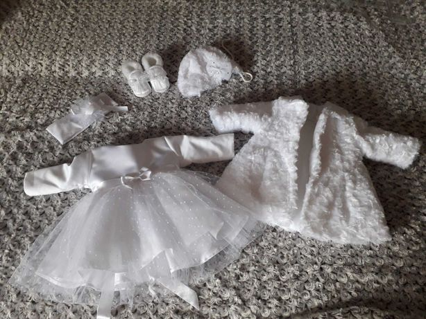 Ubranko/sukienka do chrztu komplet