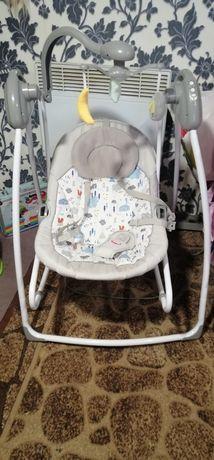 Качеля, шизлонг, для новорождённых кресло качалка