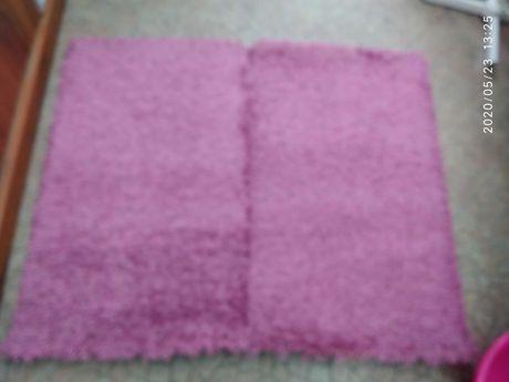 Dywan, Dywanik w kolorze różowym 2 sztuki