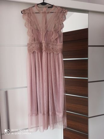 Sukienka elegancka Top Secret 34 koronka