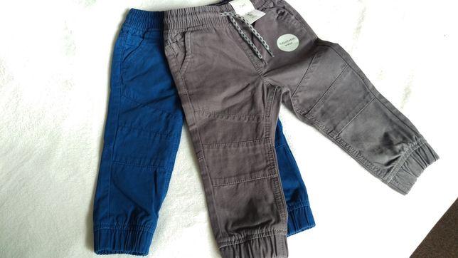 Spodnie 2 pak 86 cm sciagane w pasie TU 12-18 miesiecy Nowosc
