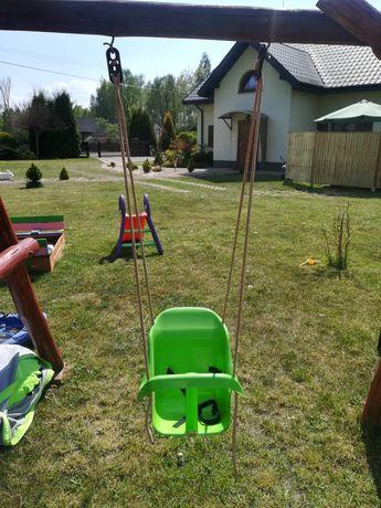 Huśtawka kubełkowa ogrodowa dla dziecka