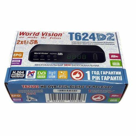 Т2 тюнер, ресивер World Vision T624D2 цифровой эфирный приемник