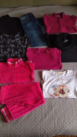 Большой пакет  вещей для девочки р.128+вещи в подарок