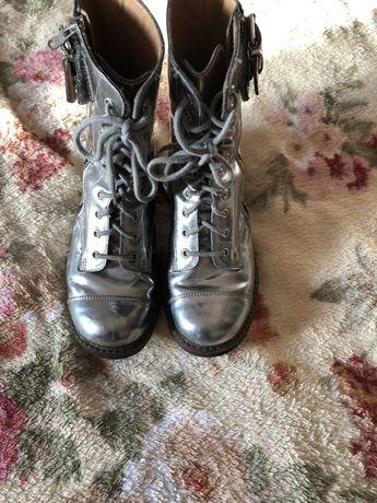 Pom dapi Италия сапоги ботинки кожа натуральная 31р