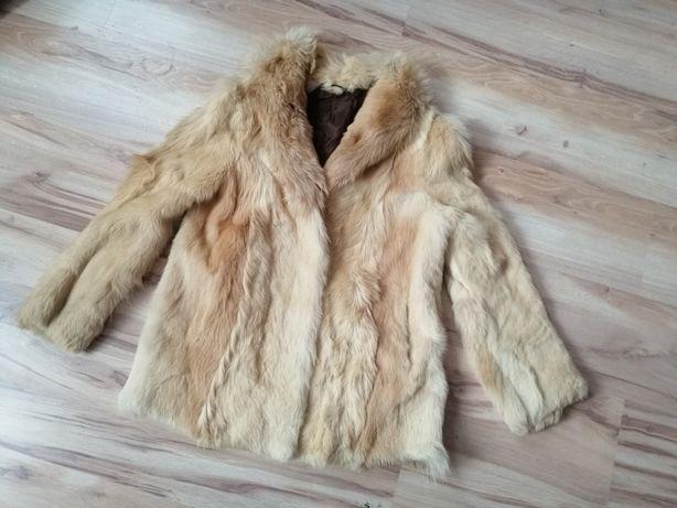 Futro kurtka naturalne PRL retro vintage stylowe M L s xl
