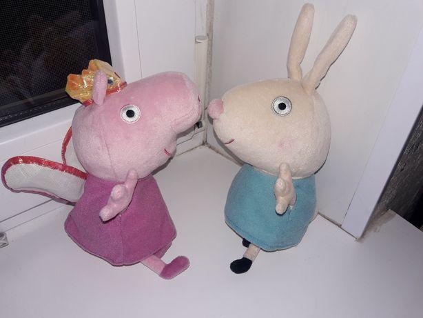 Мягкие игрушки Свинка Пеппа и Кролик Ребекка