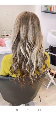 Новый чистый срез волос 45 см