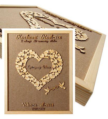 Prezent dla rodziców Rocznica ślubu Podziękowanie na ślubie