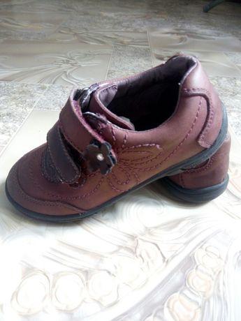 Туфли кожаные с цветочком
