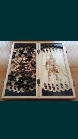Backgammoni i szachy drewniane ręcznie robione