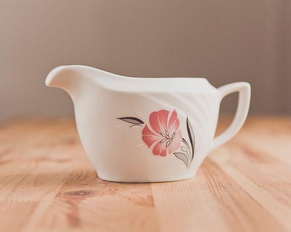 Sosjerka biała kwiat różowy lilia porcelana Rostow Winterling 7 Niemcy