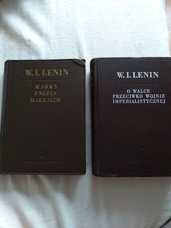 2 książki W. I. LENINA antyki z lat 50-tych