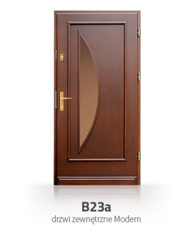 PRZESZKLONE drewniane drzwi zewnetrzne ocieplane solidne