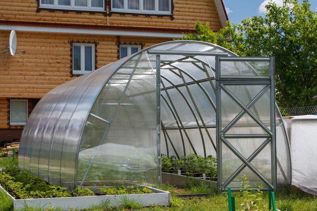 Szklarnia ogrodowa Optima 3m x 6m x 2,1m, stal, poliwęglan