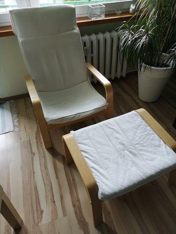 Fotel i podnóżek IKEA