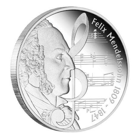 Серебряная монета Тувалу 2009 года, Феликс Мендельсон