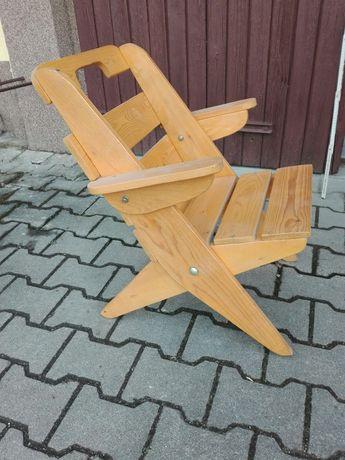 Krzesełko ogrodowe sosnowe