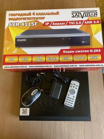 Продам гибридный4 канальный видеорегистратор + видео карта на 300гиг.