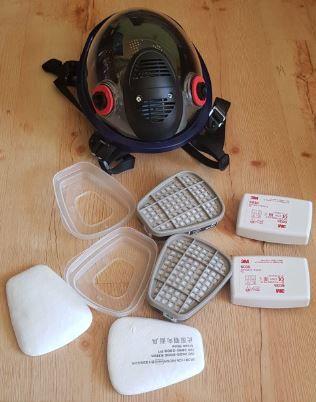 Maska 3M 6800 pełna kompletny zestaw 7 w 1