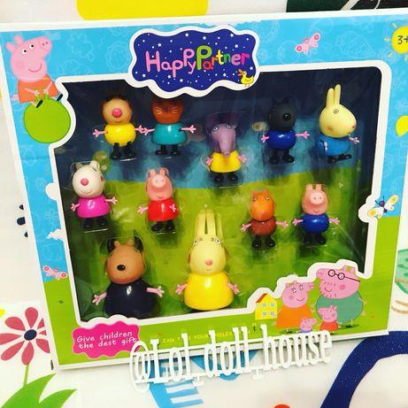 Свинка Пеппа игровые наборы домик школа детская площадка