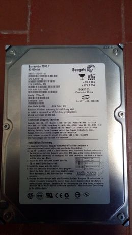 Disco rígido 3.5 IDE 40 GB