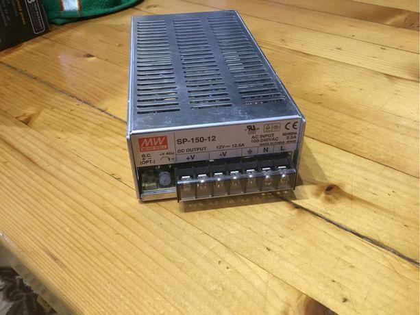 Блок питания Mean Well SP-150-12 В корпусе с ККМ 150 Вт, 12 В, 12.5 А