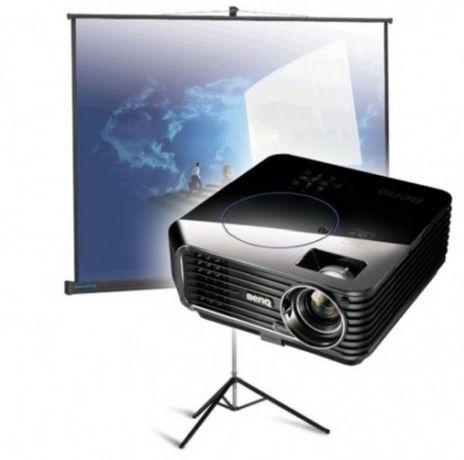 Аренда проектора и переносного ролетного екрана 1.80×2.60