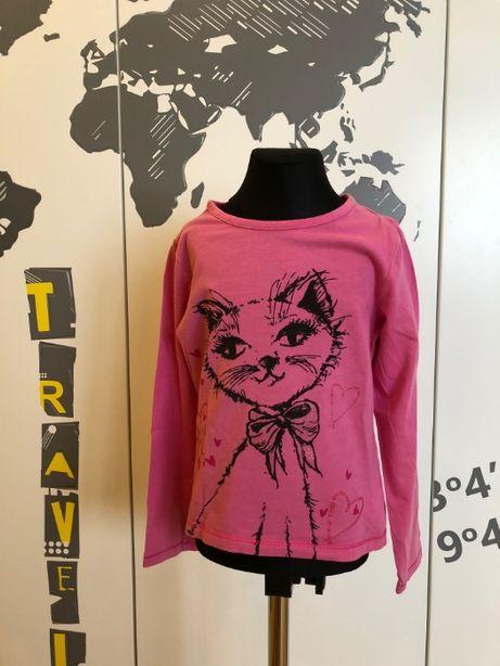 bluzka różowa z kotkiem cherokee 6-7 lat 122cm