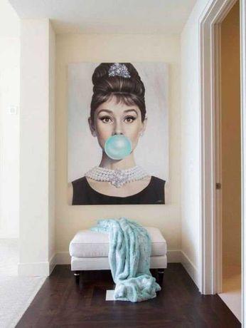 картина coco chanel одри хепберн постер предмет интерьера