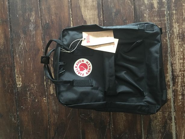 Nowy czarny plecak kanken classic 16 litrów