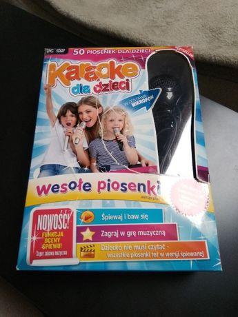 Karaoke dla dzieci w zestawie mikrofon, płyta