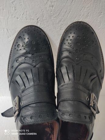 Туфли кожа, Италия, р. 37, монки броги