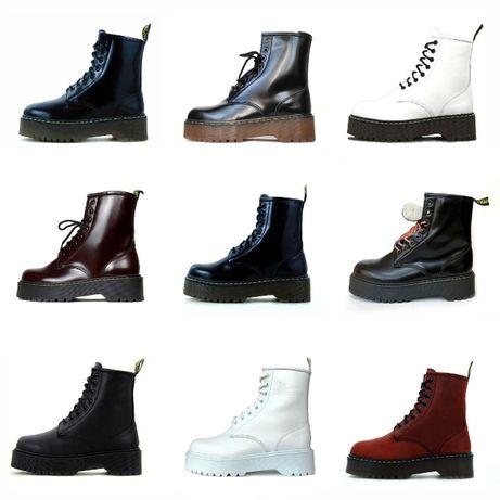 ВСЕ ЦВЕТА * Женские зимние ботинки Dr. Martens / Мартинс ( Мех / Без М