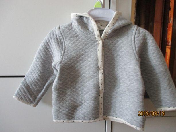 Bluza z kapturem, dresik, sweterek H&M roz. 74, 6-9M