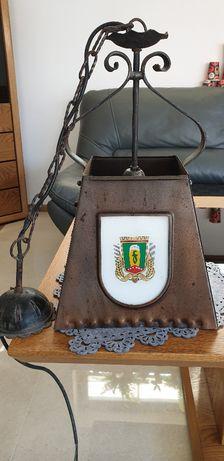 Kolekcjonerska blaszana lampa żyrandol Browar