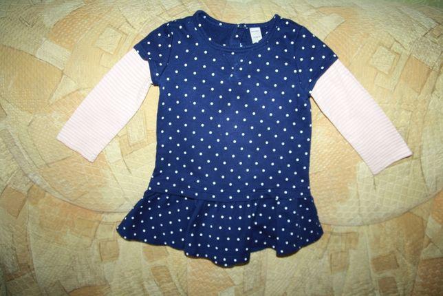 Стильное платье для девочки, размер 2Т