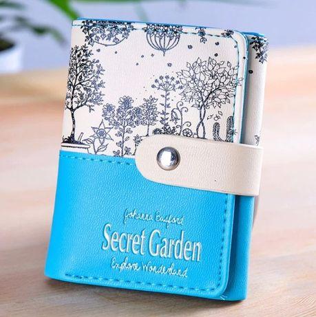 """Кошелек женский вертикальный компактный """"Secret Garden"""" 119"""