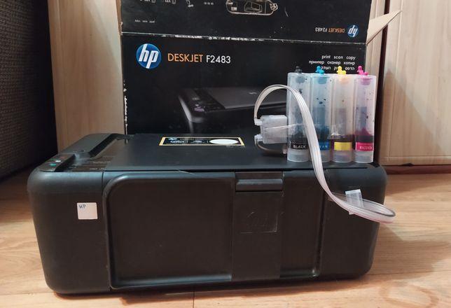 Принтер-сканер HP, переделан под СНПЧ.
