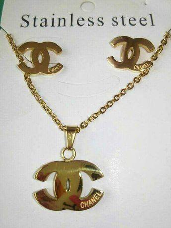 Komplet biżuterii wzór chanell