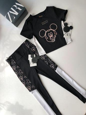 Новый костюм Zara на девочку 7-8-9 лет,костюмчик лосины,штаны,топ,спор