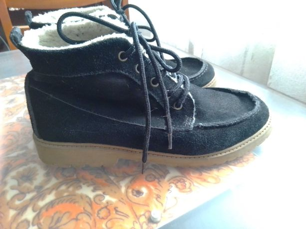 Ботинки зимние, р-р 37, RAINBOW (bonprix), замша.