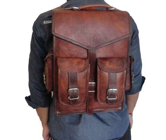 Plecak Tornister Skórzany Vintage Brązowy KP01 HIT