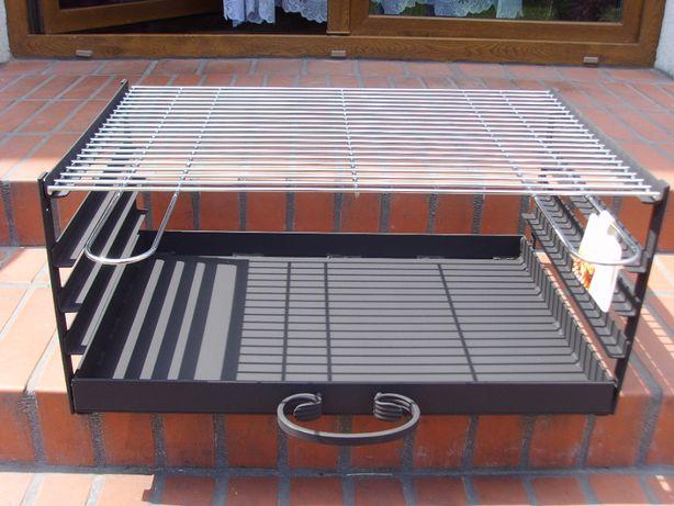 Wkład grill murowany 67x40 ruszt popielnik palenisko
