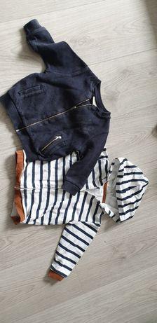 Rozpinana bluza Zara H&M 2 szt., rozm. 80