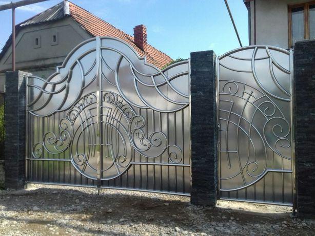 Ворота з нержавійки / огородження / забори з нержавіючої сталі